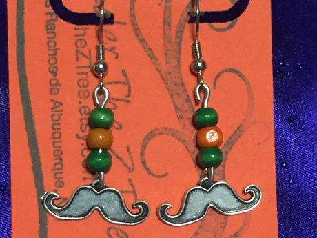 Dangling Mustache Earrings