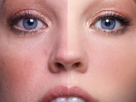 Retouched and blemishes removal