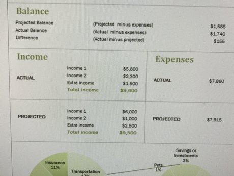 Financial budgeting/advice
