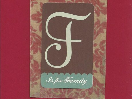 F Is for Family Christmas Card