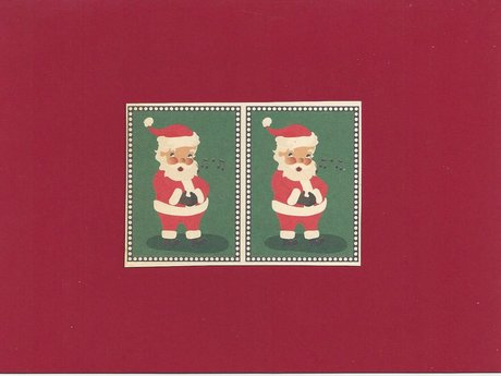 Two Santas Christmas card