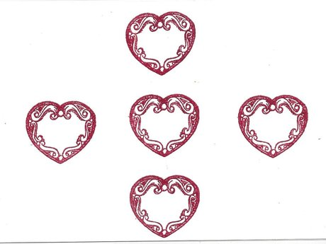 Valentine with 5 hearts