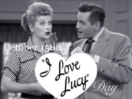 I Love Lucy day Magnet Postcard