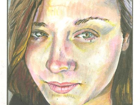 Close-Up Face Portrait