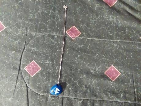 Blue Rune Shell Pendulum