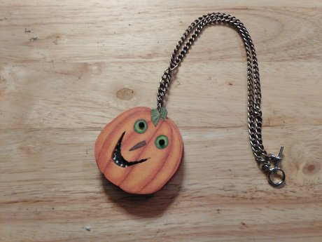 Large Pumpkin Charm Necklace