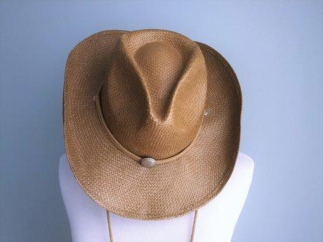 Woven Cowboy Hat -S/M Natural Fiber