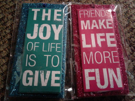 6 Glitter Gift Tags (3 ea. package)