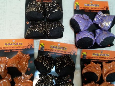 HALLOWEEN CANDY BAGS/DOG BOOTIES