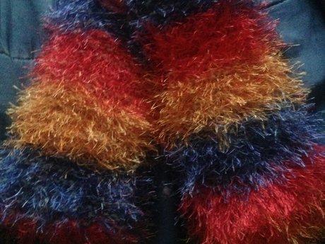 "Handmade Knit Scarf - 52"""