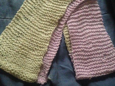 "Handmade Knit Scarf - 47"""
