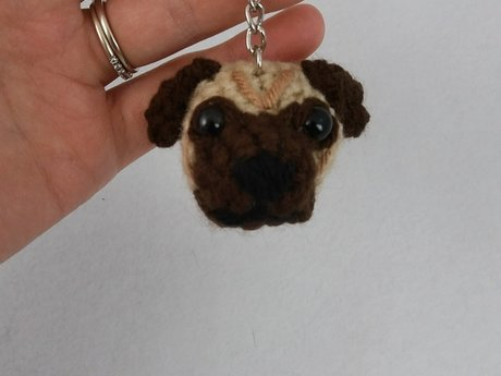 Bull dog key chain