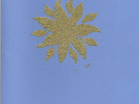 Handmade Christmas Card w Gold Star