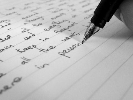 Sending a handwritten letter to you