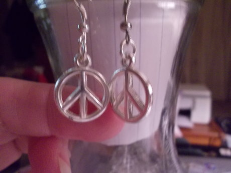 Peece symbol earrings