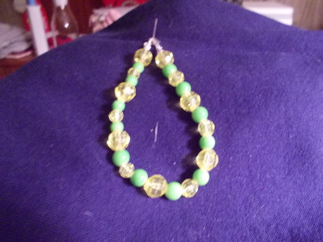 yellow and jade bead bracelet