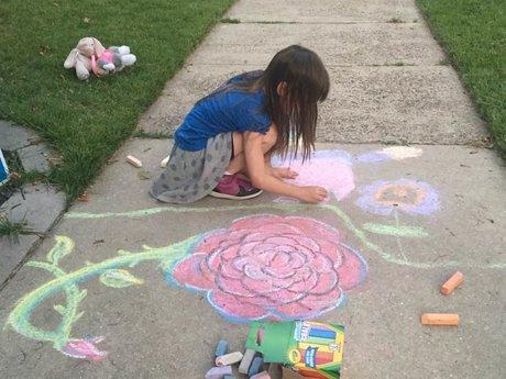 Custom Sidewalk Chalk Drawing