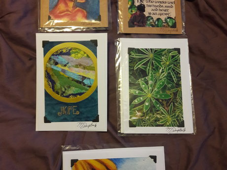 Hand-Made Cards, set of 5