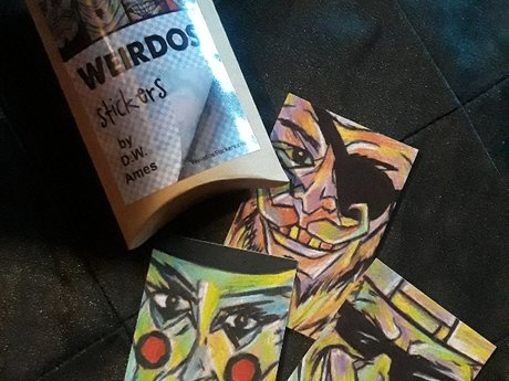 Pack of new Weirdos Stickers!