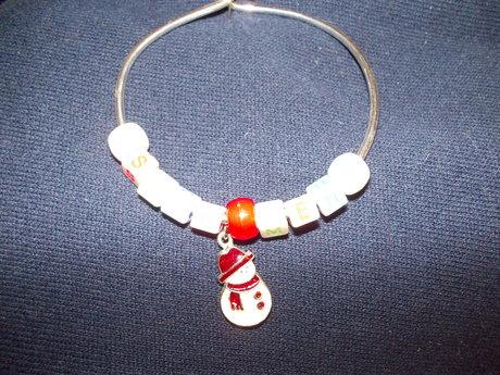 Xmas  Snowman bracelet