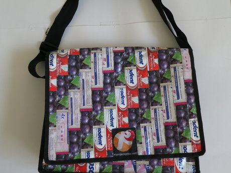 Messenger Bag Upcycled Wrappers