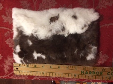 Chocolate & Cream Colored Fur Pouch