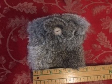 Grey Fur Pouch/Purse