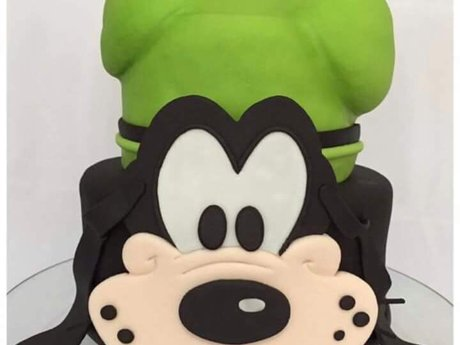Custom decorated cake, cookies