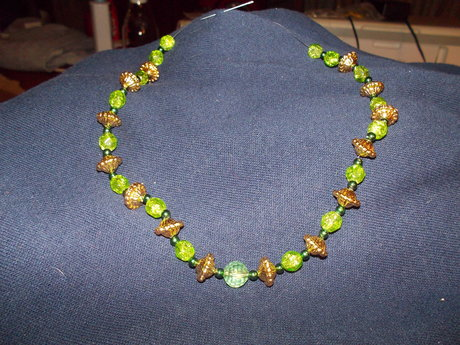 green and gold choker