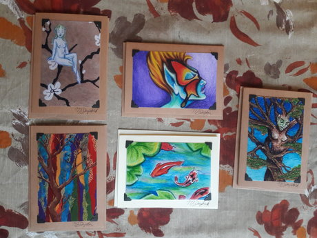 Set of 5 Art Cards