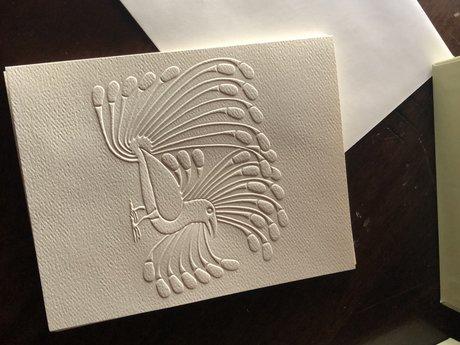 Blank Peacock Notecard