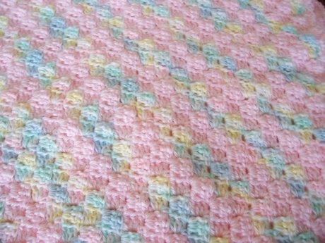 Sew a bib or lovey baby blanket.