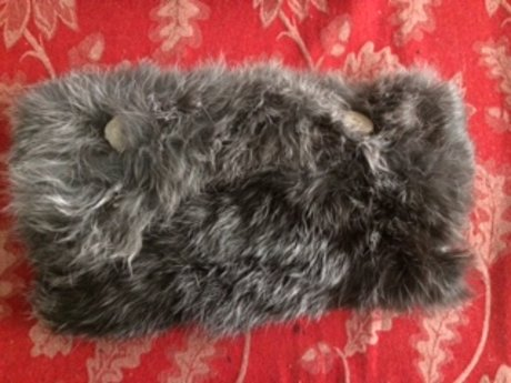 Silver Fox (Rabbit) Fur Pouch/Purse