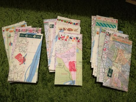 10 map envelopes