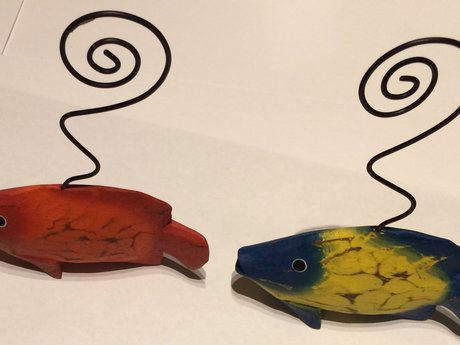 Wooden Fish Place Card Holders