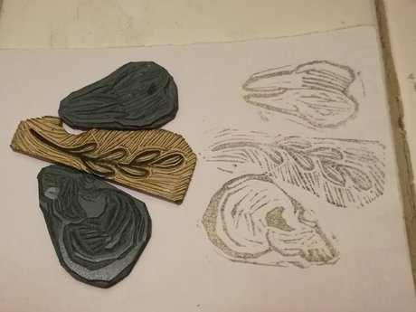 3 mini linocut bundle
