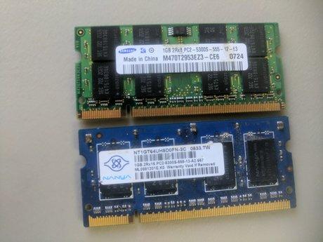 2x1GB RAM PC2 6300S LAPTOP RAM