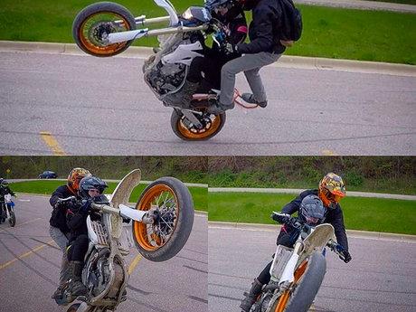 Stunt Bike Footage for videos