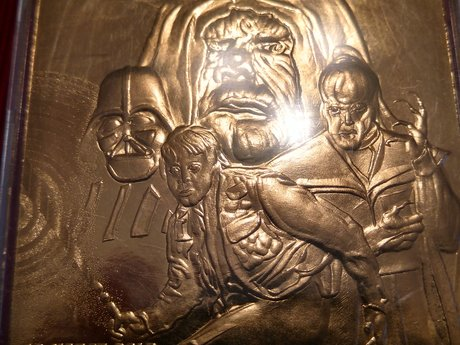 Star wars gold sculpted card