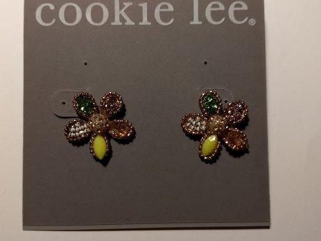 Cookie Lee flower earrings genuine