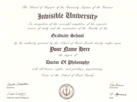 Invisible University Ph.D.
