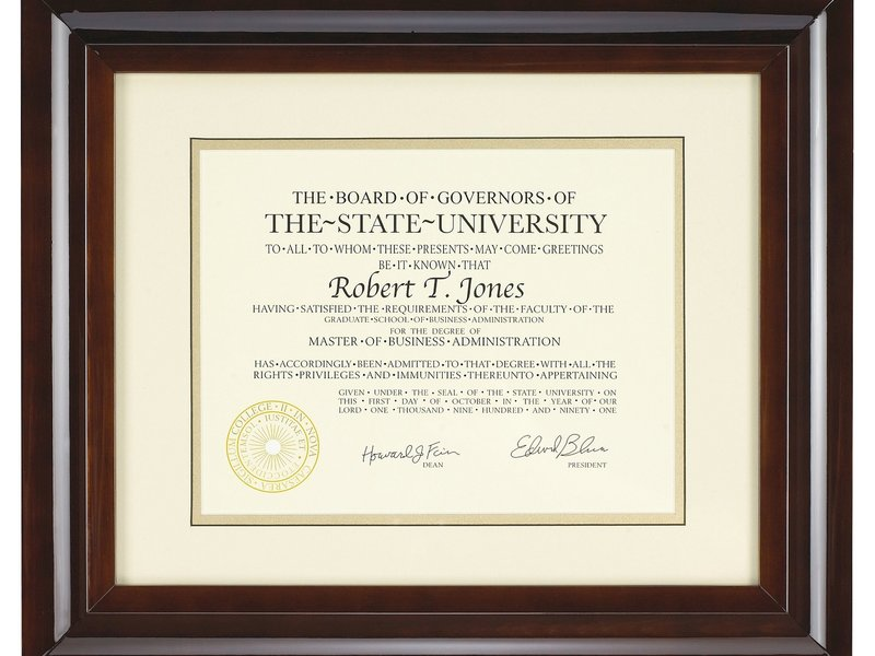 Re-gift Diploma Frames from Costco - Wilma Jones - Simbi