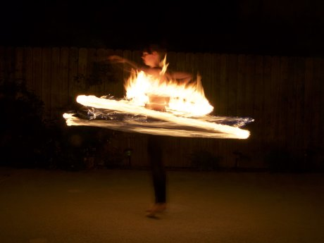 Fire Spinning/Flow Arts Lesson