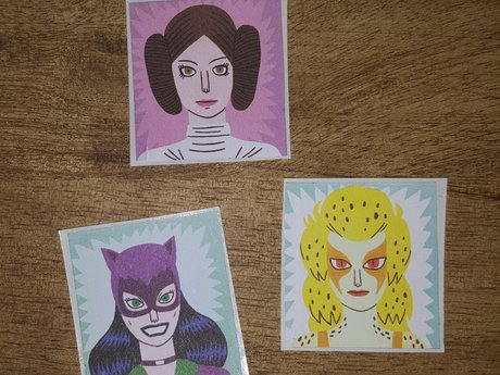 Upcycled Super Hero Stickers