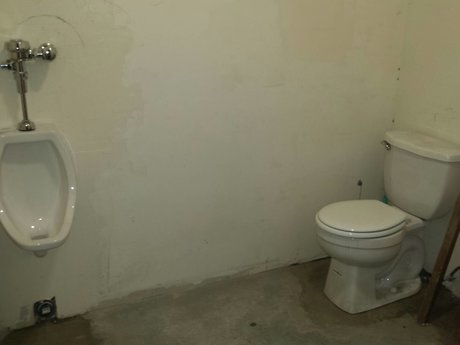Toilet installation on first floor