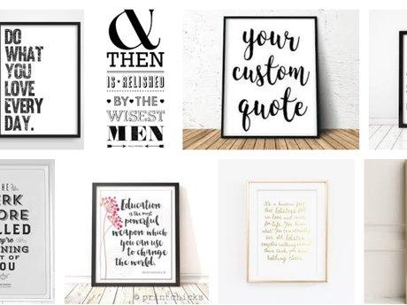 Custom Typography Design