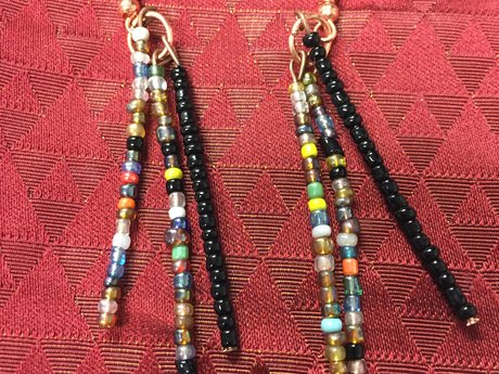 More beaded earrings