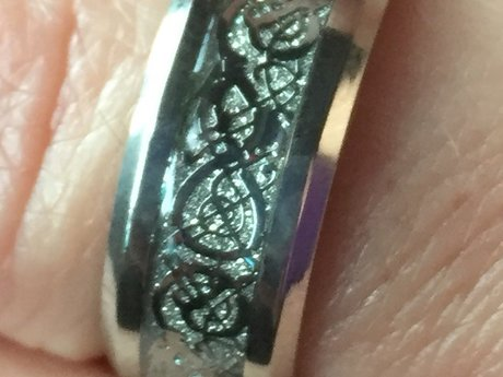 Silver Blessed Celtic Dragon Ring