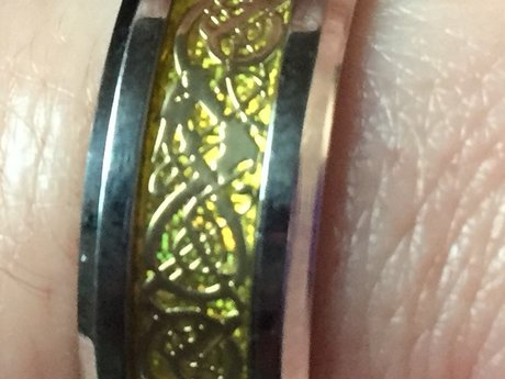 Blessed Gold Celtic Dragon Ring