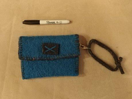 Boiled Wool Pouch w/Magnet Closure